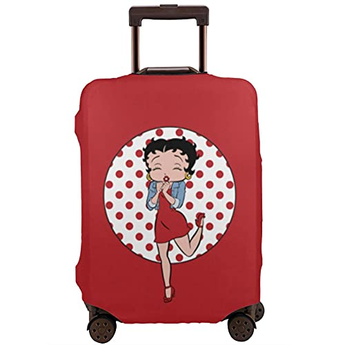 Funda de equipaje lavable para maleta, antiarañazos, diseño de puntos rojos Be-Tty Bo-Op para maleta de 18 a 32 pulgadas, multicolor, 85