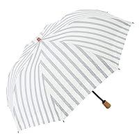 日傘 折りたたみ ショート傘 晴雨兼用傘 完全遮光 遮熱 UVカット 紫外線遮蔽率100% ボーダー柄 大判 トップレス 母の日 母の日 ギフト 母の日 日傘 (ネイビーストライプ)