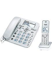 Panasonic 松下電器 RU?RU 數字無線電話機 附帶1臺子機 搭載無線電話咨詢功能 銀色 VE-GD37DL-S