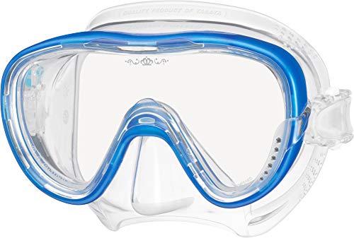 Tusa Tina - Maschera subacquea da donna con zirconi blu