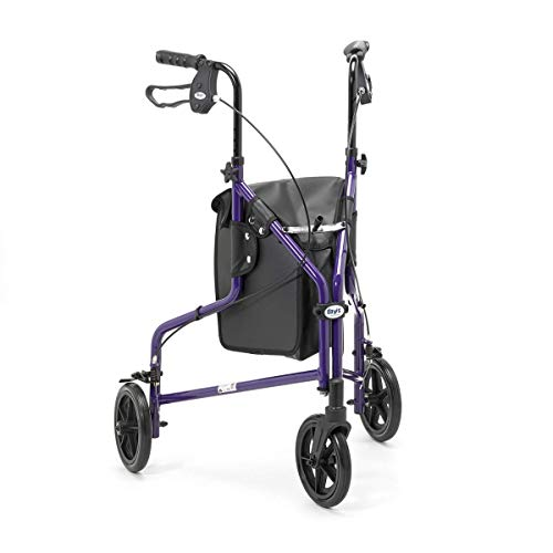 Patterson Medical Violett Tagen Tri Rad Walker mit Tasche und Korb