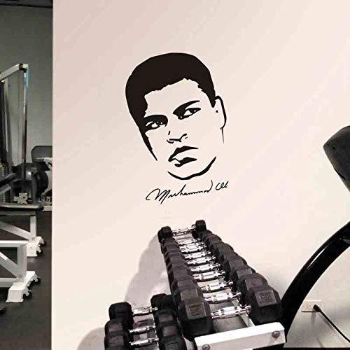 Boxen Muhammad Ali Handschuh Aufkleber Kick Boxer Spielauto Aufkleber Free Combat Poster Vinyl Striker Wandaufkleber Wand 58 * 84Cm