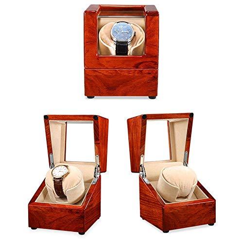 Automatic Watch Winder Box Automatischer Uhrenbeweger Schalter im Uhrzeigersinn oder gegen den Uhrzeigersinn - 5 Timer-Programme Silent Motor Movement