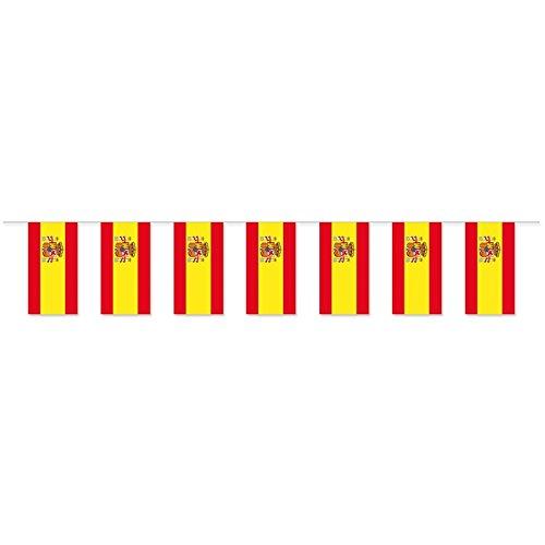 Everflag Papierfahnen-Kette 5m : Spanien