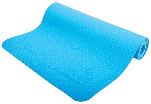 Schildkröt Fitness Yogamatte 4 mm, Blau, in Tragetasche, 960169
