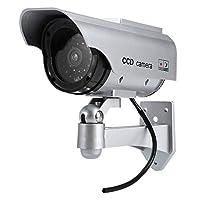 (TOKYO LUNA) 太陽光パネル搭載で半永久的に使用可能 防犯 ダミーカメラ LED 常時点滅で不審者を追い出す