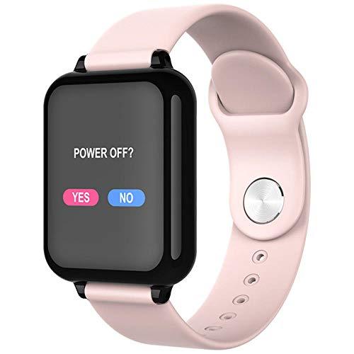Fashion Smart Uhr wasserdichte Sport Herzfrequenzmesser Blutdruckfunktion Für Android iPhone-Pink
