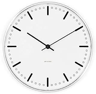 [アルネ・ヤコブセン] Clock 43631(City Hall 210mm) ホワイト FREE