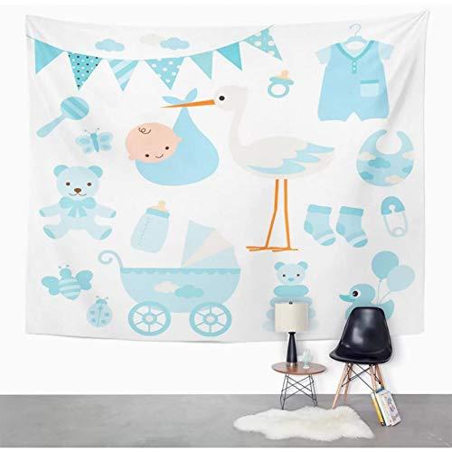 N/A Tapiz Calcetín Azul para bebé niño y artículos Tapiz de Mariposa de Pato decoración del hogar Colgante de Pared para Sala de Estar Dormitorio Dormitorio