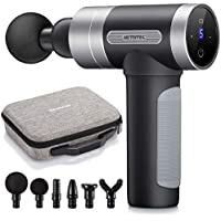 Hethtec Handheld Muscle Massager Gun with LCD Touch Screen and Carrying Case