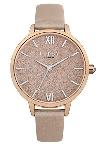Lipsy Damen Analog Quarz Uhr mit PU Armband LP614