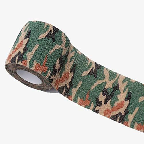 QWERTYU 1Pcs Outdoor camouflage bandage Non-woven zelfklevend elastisch verband Camouflage bandage Medisch absorberend gaas Sportband Voor elleboog Enkelhoofd Sport Wilderness camouflage LIJIANME