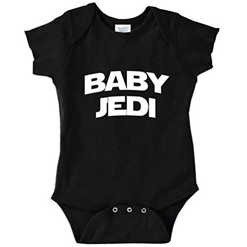 Baby Jedi Star Wars Parody Funny Baby Bodysuit Infant (Black, 6 Months)