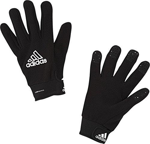 adidas Adult Field Player Fleece Glove Black White Size 8
