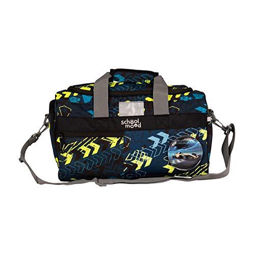 SCHOOL-MOOD Sporttasche für Mädchen und Jungen - Schultertasche, Schwimmtasche, Reisetasche (Elias (Autorennen))