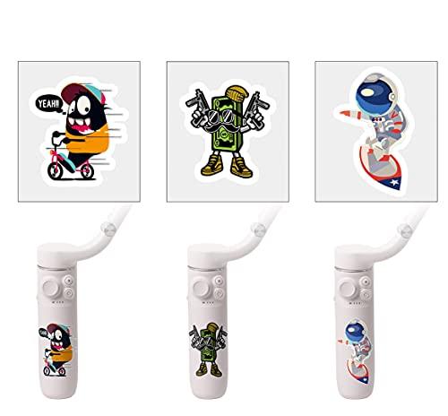 TMOM Cartoni Animati Adesivo per DJI OM5 PVC Stickers Adesivi creativi all-match accessori per OM 5 cellulare PTZ drone cellulare (opzione 1)
