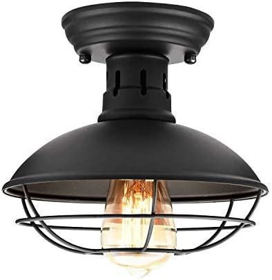 Retro Barn Ceiling Light Easric Vintage Industrial Wrought Iron Material Decoration Fixture product image