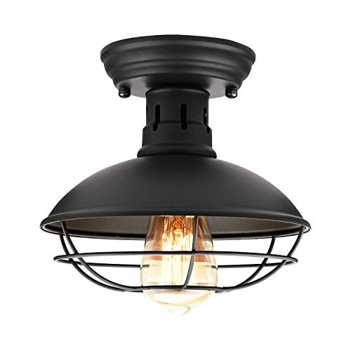 Retro Barn Ceiling Light-Easric Vintage Industrial Wrought...
