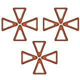 12 piezas de dedos de los pies, soporte de maceta de terracota, soporte para macetas, pies, soporte triangular para jardineras