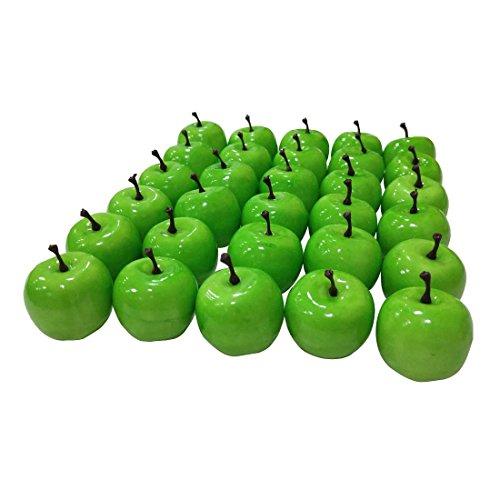 "Lorigun 30pcs simulación Realista Artificial 1.3""Mini Verde Manzana Falso Frutas Accesorios de fotografía Modelo"