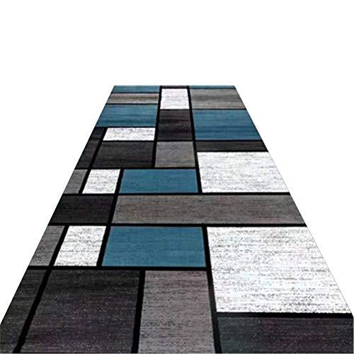 Tapis à Carreaux, Couleurs mélangées Gris-Bleu Couloirs de Couloir Tapis lavables en Machine for Tapis de Chemin de Table antidérapants - Largeur 80cm / 100cm / 120cm (Size : 100X250cm)