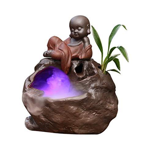 YHDP Zen Fuente De Agua De Escritorio,Figura De Buda Figurilla Fuente Interior...