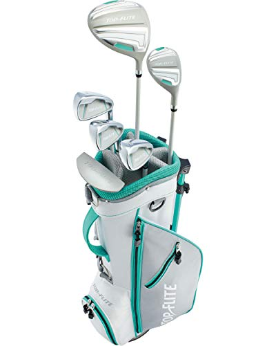 Top-Flite Girls 9-Piece Complete Golf Set w/Bag Teal Right Hand Ages 9-12