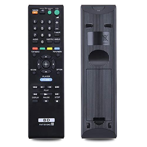 New RMT-B104C Replacement Rremote Control, Suitable for Sony Blu-ray Disc Player BDP-S185 BDP -S550 BDP-S270 BDP-S350 BDP-S360 BDP-S300 BDP-S380 BDP-S470 BDP-S480 BDP-S370 BDP-S490