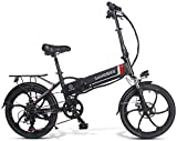 Ancheer SAMEBIKE Bicicleta Eléctrica Plegable, E Bike 20 Pulgadas con Batería de Litio 48V 10.4 Ah, Shimano 7 Speed Motor...