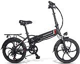 "ANCHEER 20 Zoll E-Bike Pedelec, Faltbares Elektrofahrrad Elektrisches Fahrrad mit 48V 10.4Ah/ 36V 8AH Lithium Akku, Shimano 7-Gang Getriebe, 350W / 250W Motor (20"" schwarz-10,4 Ah 350W)"