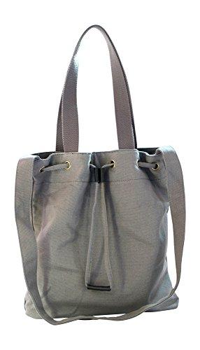 Kronya® | Elegante bolsa de tela | Embrague Bolso de mujer Bolso de mano mochila de compras bandolera (Gris)