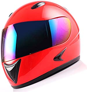 1Storm Motorcycle Street Bike BMX MX Youth Kids Full Face Helmet Glossy Red