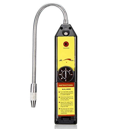 KuGee Freon Leak Detector, Portable Halogen Gas AC Freon Refrigerant Leak Tester, Car Air Conditioning Leak Detection Tools