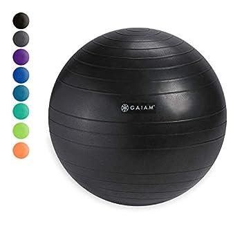 Gaiam Classic Balance Ball Chair Ball - Extra 52cm Balance Ball for Classic Balance Ball Chairs Charcoal