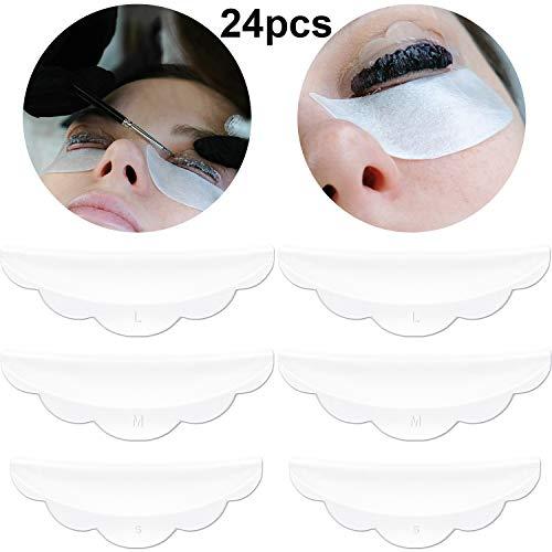 24 Piezas de Almohadilla Protectora de Pestañas de Silicona con Tamaño S/M/L, Almohadilla de Levantamiento de Pestañas Herramientas de Belleza Maquillaje Reutilizables