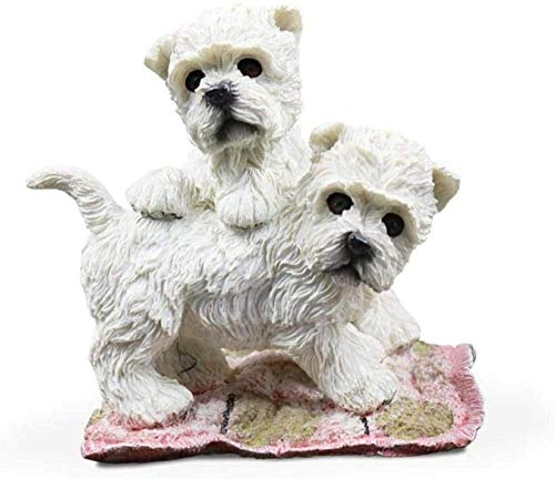 FENGWXINW Sculptures for home Artificial dog model Animal carving Car decoration Decoration