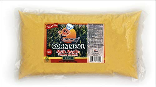Yummmy Fine Grit Cornmeal - Harina de Maíz Fina 3.5 Lbs (56 Oz), Stone Ground, Kosher Certified, Gluten Free, 100% Natural