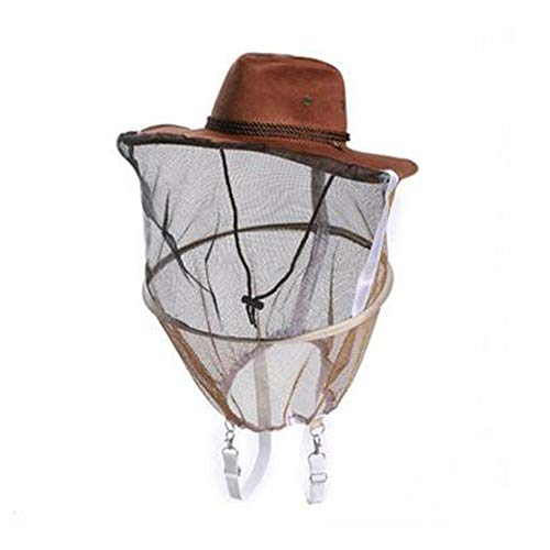 Veronivan Imker-Hut mit Netz-Maschen-Bienen-Wanzen-Fliegen-Masken-Kappen-Hut-Schutz-Ausrüstungs-Kopfschutz