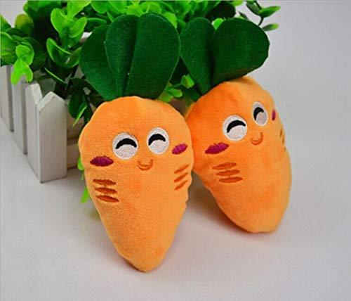 NILOVEDE Hunde Suction Cup Kauspielzeug Molar Bälle Squeak Hundespielzeug Pet Puppy Chew Squeaker Squeaky Plüsch Ton Obst Gemüse Und Babyflasche Spielzeug Geschenk # 10, Orange, 16Cm