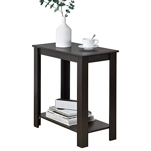 [en.casa] Beistelltisch Sofatisch 60x30x61,3cm Telefontisch Kaffeetisch braun
