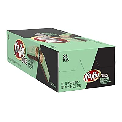 Kit Kat Duos, Mint & Dark Chocolate Candy, 1.5 Ounce (24 Count)