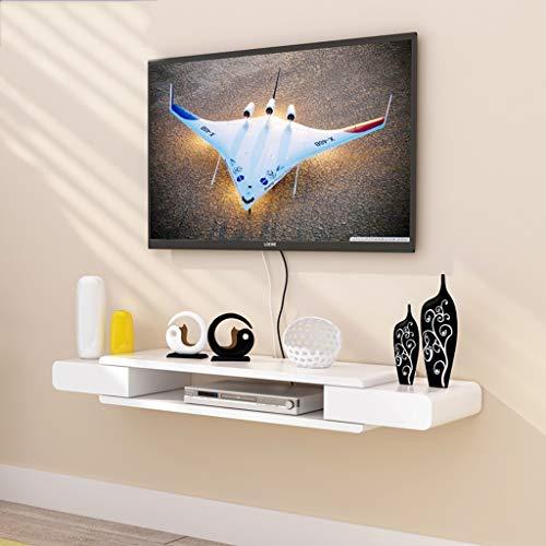 FENG-Floating plank wit zwevende muur plank TV kast TV standaard set Top Box plank TV console opslag unit organisator plank voor DVD kabeldoos