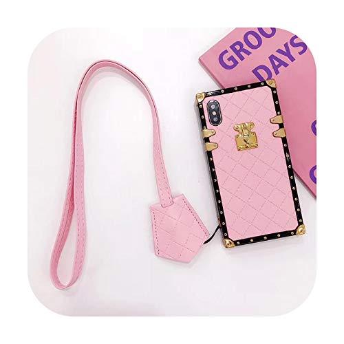 Lujo cuadrado piel de cordero muñeca suave cuero teléfono caso para iPhone 11 Pro cubierta trasera coque caso protector para iPhone 11 Pro Max-D-para iPhone 11Pro