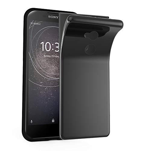 Cadorabo Hülle für Sony Xperia L2 in SCHWARZ - Handyhülle aus flexiblem TPU Silikon - Silikonhülle Schutzhülle Ultra Slim Soft Back Cover Case Bumper