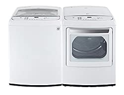 LG Top Load Laundry System WT1701CW DLEY1701W