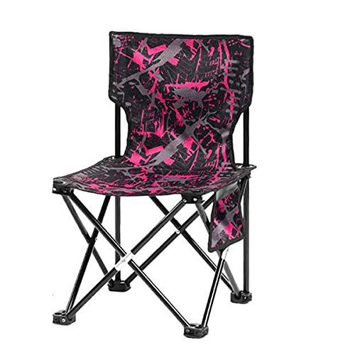 YTQ Silla de pesca plegable con respaldo alto, silla de camuflaje portátil, taburete plegable ligero al aire libre con bolsa de almacenamiento de artículos (color: rojo)