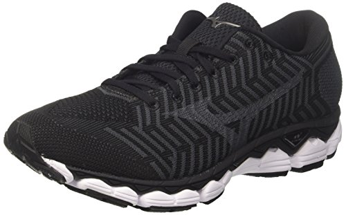 Mizuno Waveknit S1, Zapatillas de Running Hombre, Multicolor (Black/Black/darkshadow 09), 45 EU