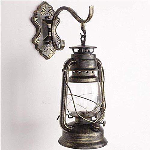MEIXIAN Wandlamp Vintage lantaarn antieke petroleum industriële lamp stijl cafe restaurant wand (kleur: B) eenvoudig retro
