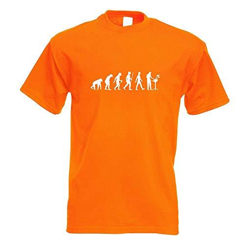 Kiwistar - Evolution Griller Barbeque BBQ T-Shirt in 15 Herren Funshirt Bedruckt Design Sprüche Spruch Motive Oberteil Baumwolle Print Größe S M L XL XXL