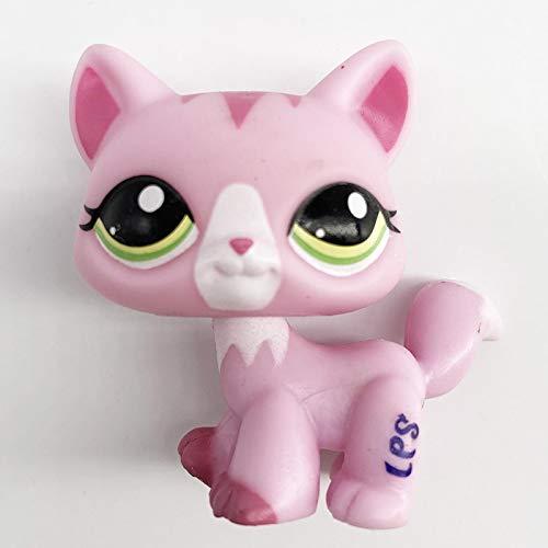 JKDC Pet Shop Toy LPS Cat Real lps Littlest Pet Shop hasber Toy Perro Pelo Corto Pink Cat Shepherd Dachshund Great Dane Negro Blanco 62